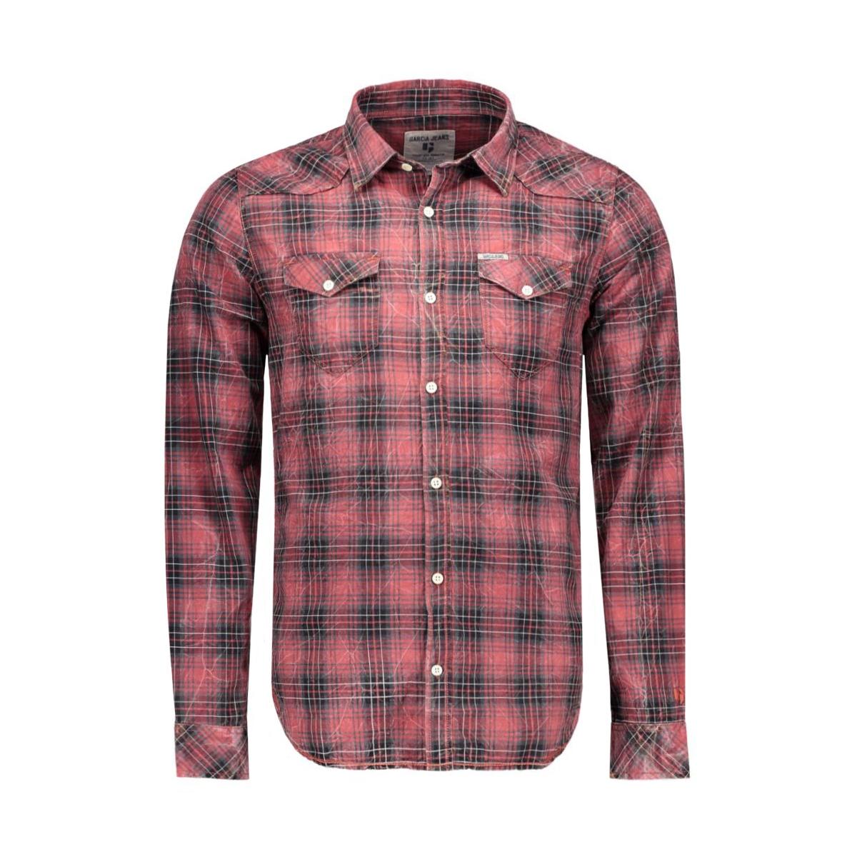 s61028_men`s shirt ls 1699 garcia overhemd 1699 kings red