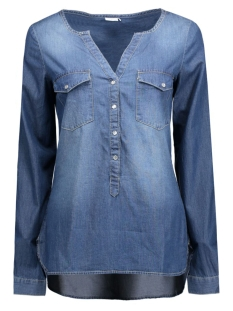 jdywyre ls placket denim shirt wvn 15129969 jacqueline de yong blouse medium blue denim