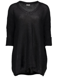 Noisy may Trui NMVERA 3/4 V-NECK KNIT TOP 10159942 Black