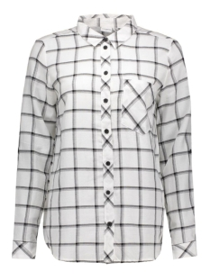 jdyjordie l/s check shirt wvn 15125940 jacqueline de yong blouse cloud dancer/black
