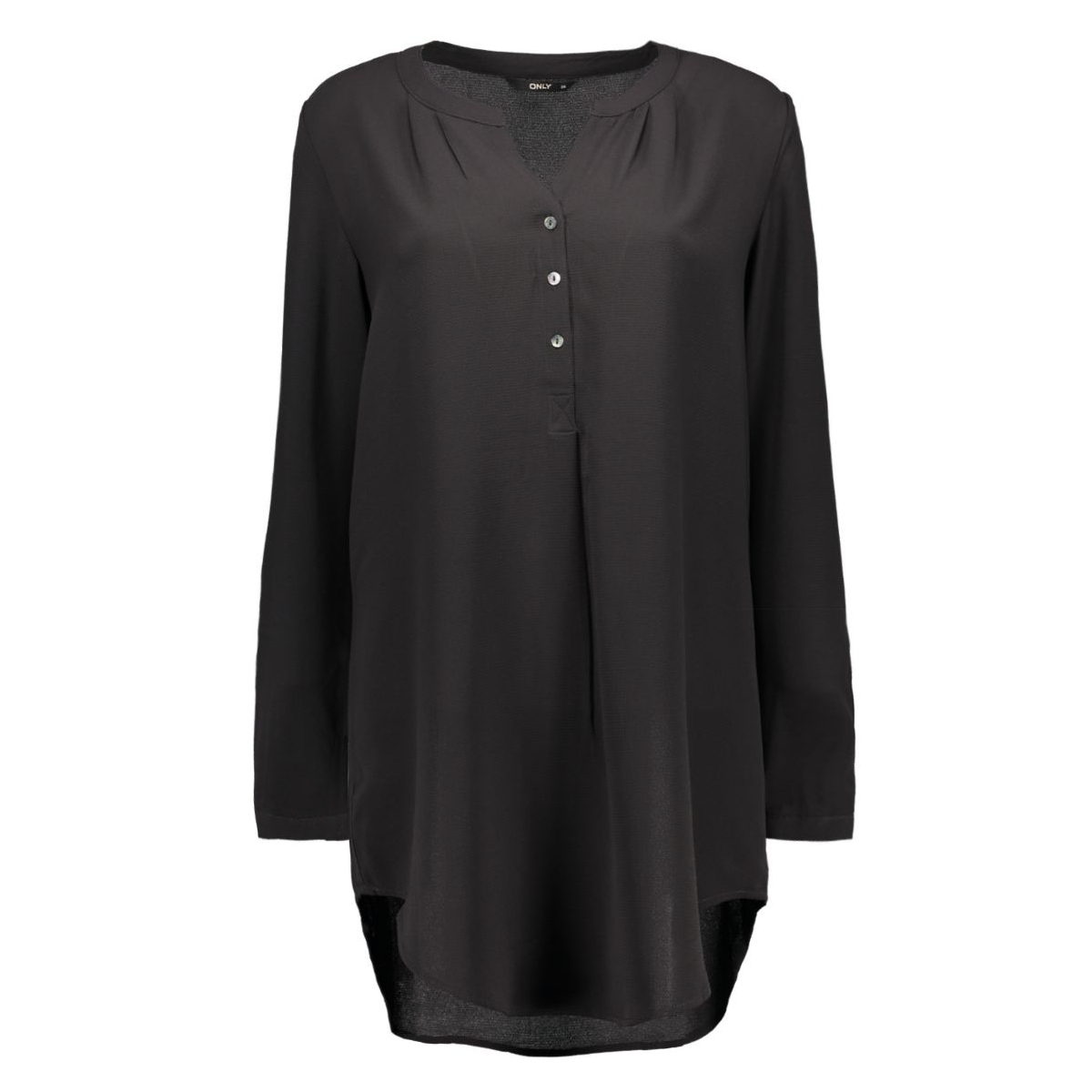 onlnova lux long tunic shirt solid 15125010 only blouse black