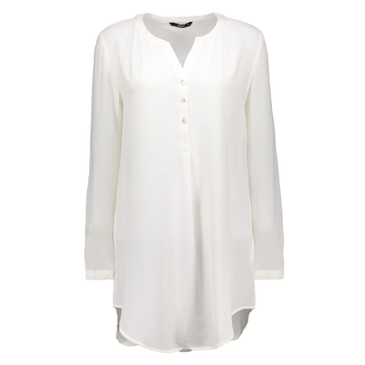 onlnova lux long tunic shirt solid 15125010 only blouse cloud dancer