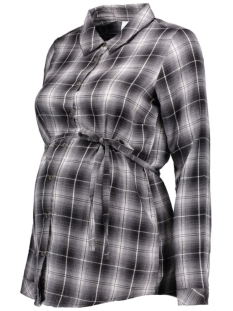mlskot l/s woven shirt 20006465 mama-licious positie blouse black