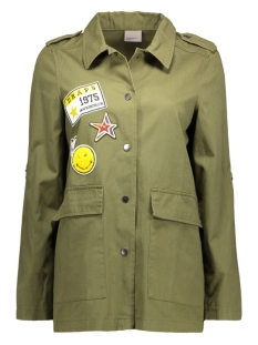 vmpixie l/s shirt jacket nfs 10173871 vero moda jas ivy green/patches