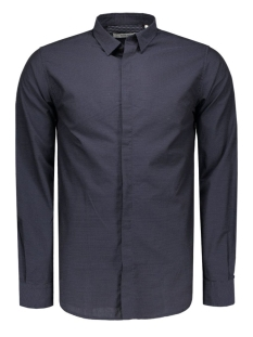 jprvito shirt l/s plain 12095138 jack & jones overhemd dark navy/dot/ slim