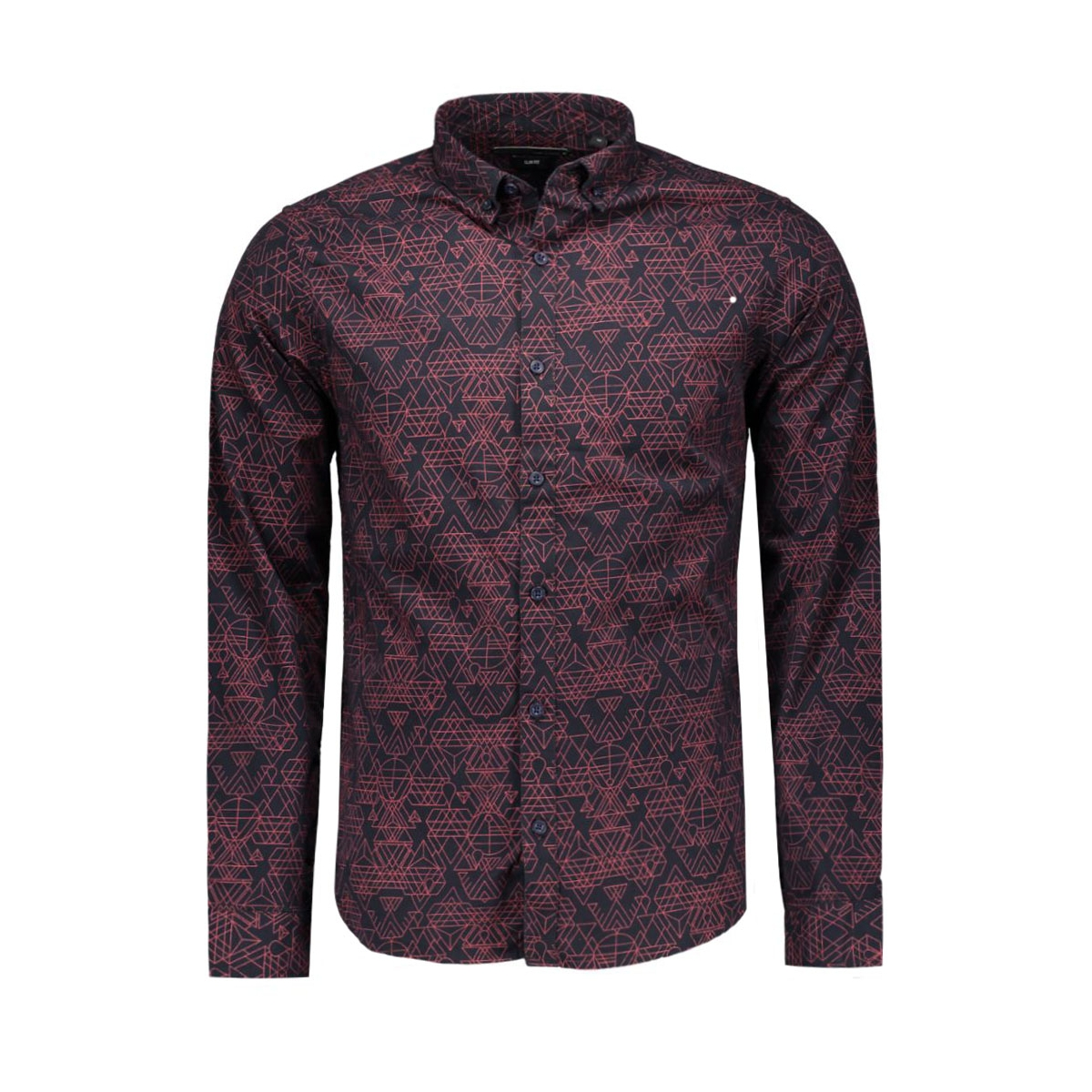 onsebbe ls shirt 22004587 only & sons overhemd dark navy/rio red co