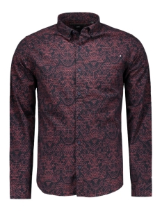 Only & Sons Overhemd onsEBBE LS SHIRT 22004587 Dark Navy/RIO RED CO