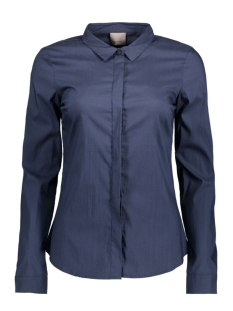 vmlady fine l/s shirt noos 10164900 vero moda blouse navy blazer