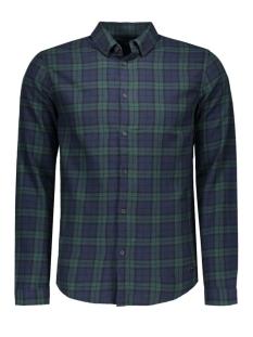onssven ls shirt 22004067 only & sons overhemd dark navy/w/green ch
