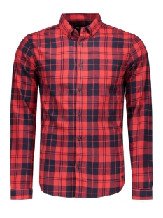 onsSVEN LS SHIRT Black/RED CHECKS