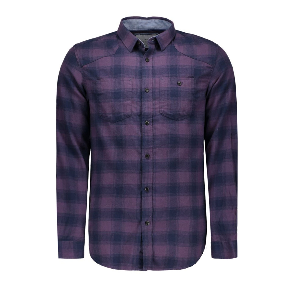 jcoloader shirt l/s two pockets 12109058 jack & jones overhemd nightshade/slim fit