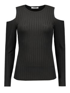 Pieces T-shirts PCIVANO CUT OUT LS TOP 17079772 Black