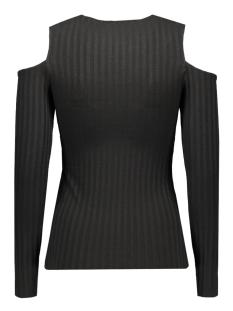 pcivano cut out ls top 17079772 pieces t-shirt black