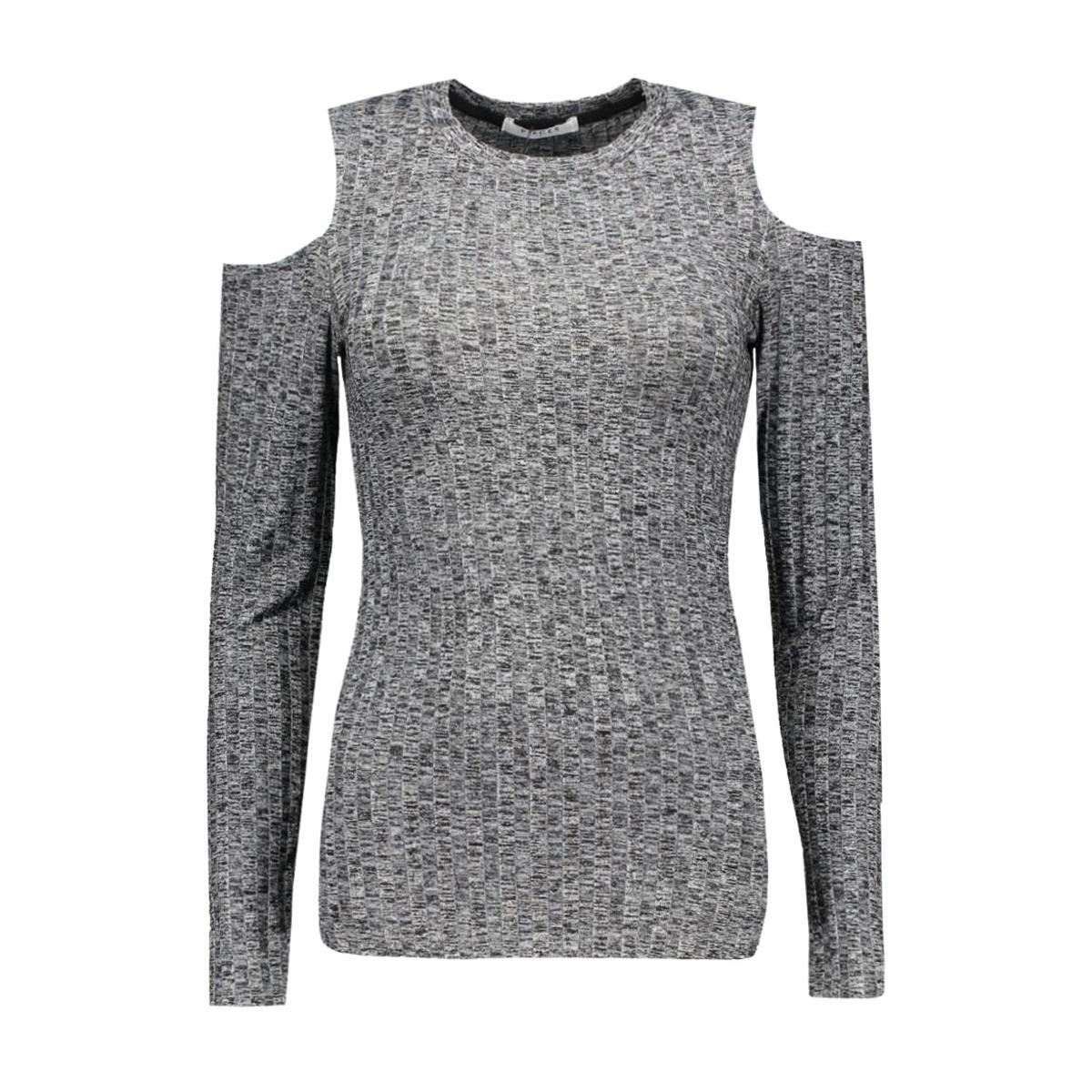 pcivano cut out ls top 17079772 pieces t-shirt dark grey melange