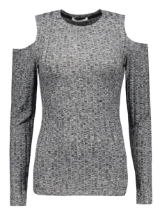 Pieces T-shirts PCIVANO CUT OUT LS TOP 17079772 Dark Grey Melange