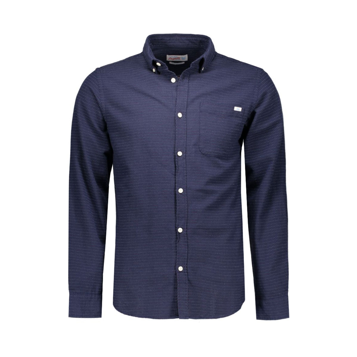 jorground shirt l/s 12109915 jack & jones overhemd navy blazer