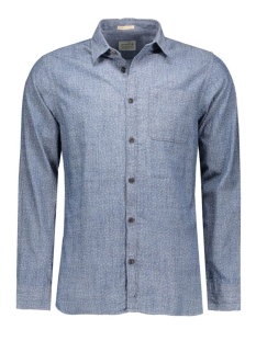 Jack & Jones Overhemd JJVCARDIFF SHIRT L/S ONE POCKET 12112044 Mood Indigo