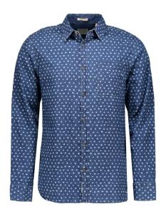 jjvcardiff shirt l/s one pocket 12112044 jack & jones overhemd provincial blue