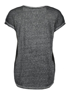 vmmia burnout animal ss top box dnm 10165013 vero moda t-shirt dark grey melan/burn out w