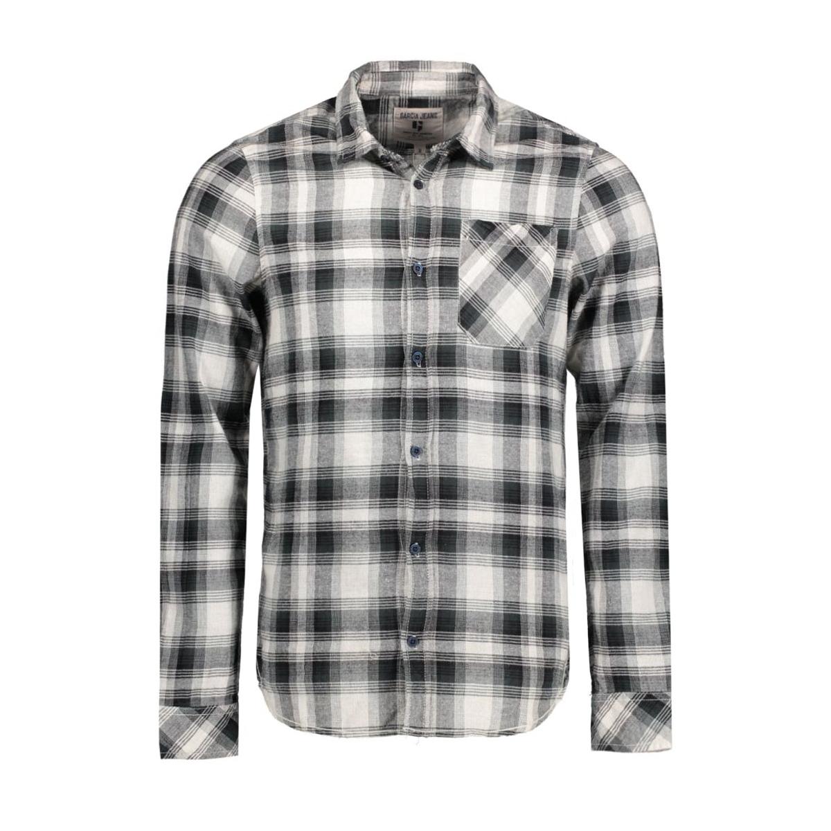 v61227 garcia overhemd 1856 grey khaki
