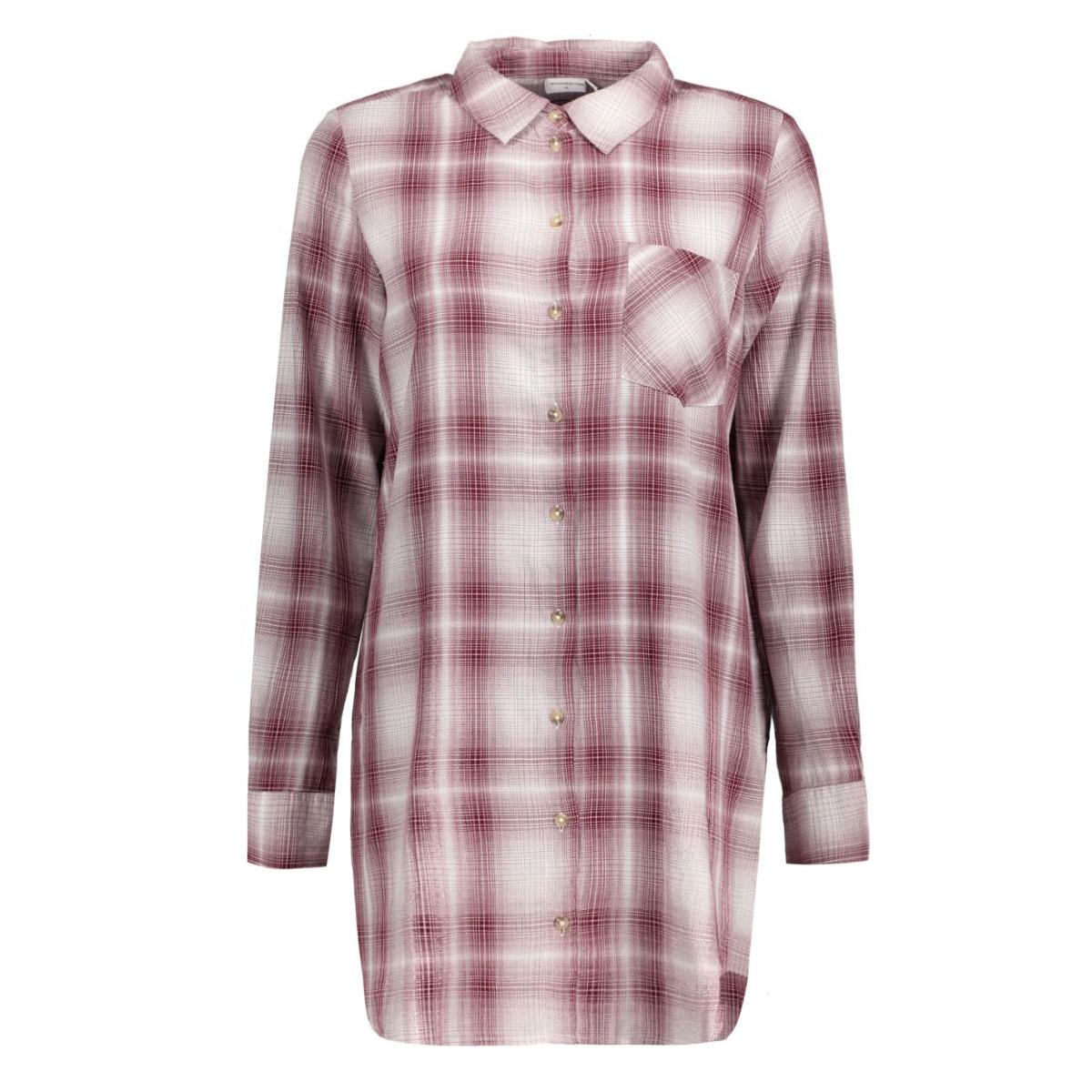 jdydancer l/s long shirt 15121486 jacqueline de yong tuniek cloud dancer/zinfandel