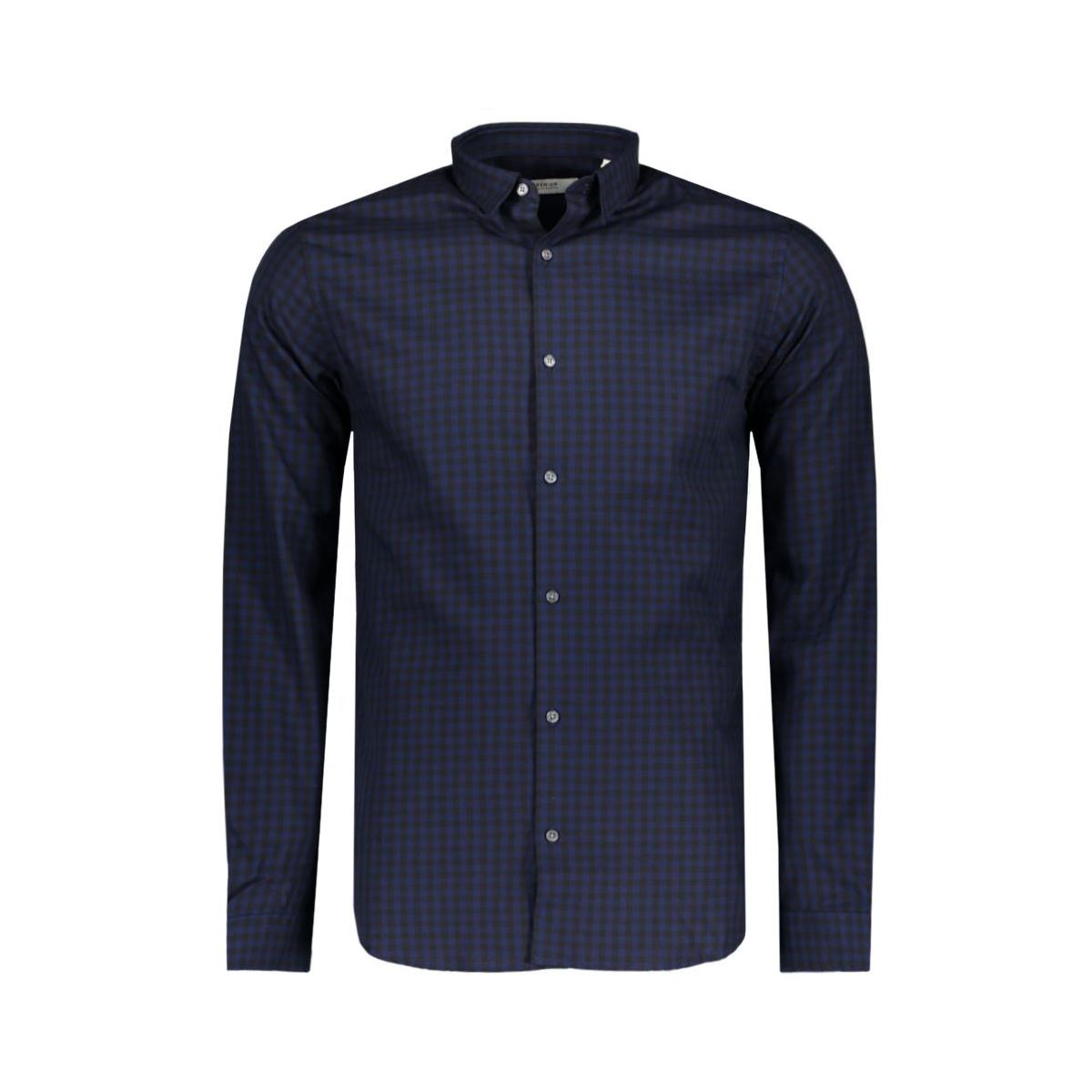 jprbrad shirt l/s noos 12116632 jack & jones overhemd navy blazer/check