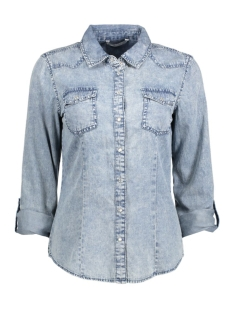 onladdison ls rock it shirt wvn 15127959 only blouse medium blue denim