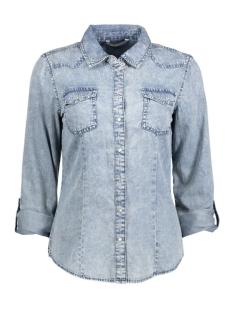 Only Blouse onlADDISON LS ROCK IT SHIRT WVN 15127959 Medium Blue Denim