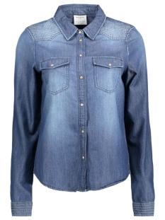 Vero Moda Blouse VMJASHI LS DENIM CROSS SHIRT 10159946 Medium Blue Denim