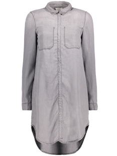 Vero Moda Tuniek VMSANNE LS LONG STUD SHIRT 10164014 Medium Grey Melange
