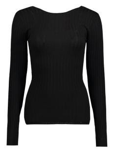 Pieces T-shirt PCSMILLA LS DEEP BACK TOP FF 17077688 Black