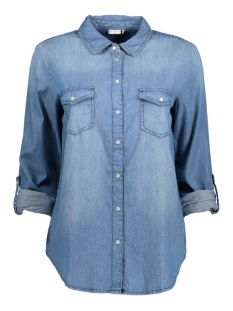 Jacqueline de Yong Blouse JDYADA LS SHIRT WVN 15126999 Medium Blue Denim