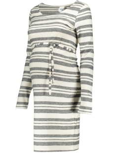 Mama-Licious Positie jurk MLTILDA L/S STRIPED JERSEY DRESS 20007038 Snow White