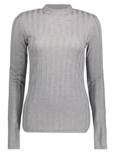 PCNOLLY LS T-NECK BLOUSE CLW 17080395 Light Grey Melange