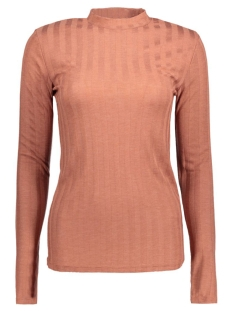 PCNOLLY LS T-NECK BLOUSE CLW 17080395 Copper Brown