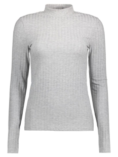 PCAMY LS TURTLENECK TOP NOOS 17079710 Light Grey Melange