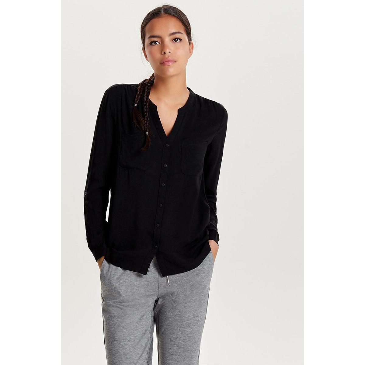 onlfirst ls pocket shirt noos wvn 15133028 only blouse black