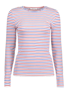 Pieces T-shirt PCMAYA LS  TEE STRIPE 17079527 Bright White