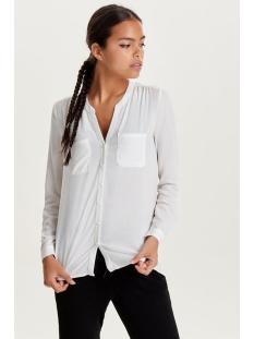 onlfirst ls pocket shirt noos wvn 15133028 only blouse cloud dancer