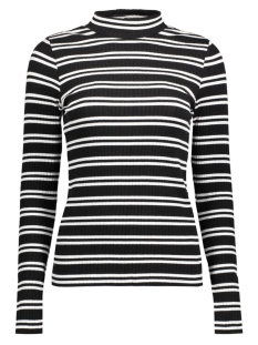 Pieces T-shirt PCALEX STRIPED  LS TURTLENECK TOP 17083084 Black