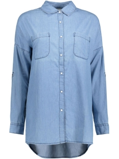 Noisy may Blouse NMERIK OVERSIZE SHIRT LT BLUE 10169439 Light blue denim