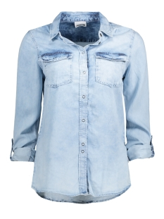 Noisy may Blouse NMERIK  L/S TENCEL SHIRT 10170703 Light Blue Denim