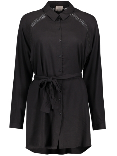 Vero Moda Tuniek VMBLOSSOM L/S LONG SHIRT 10176860 Black