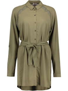 Vero Moda Tuniek VMBLOSSOM L/S LONG SHIRT 10176860 Ivy Green