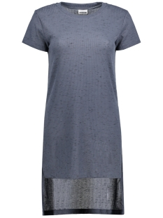NMFAVELA S/S HIGH/LOW O-NECK KNIT 10170897 Ombre Blue
