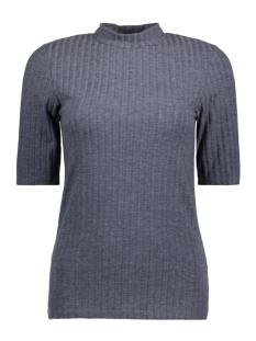 Pieces T-shirt PCAMY 2/4 TURTLENECK TOP NOOS 17079709 Navy Blazer