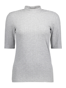 Pieces T-shirt PCAMY 2/4 TURTLENECK TOP NOOS 17079709 Light Grey Melange