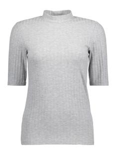 Pieces T-shirt PCAMY 2/4 TURTLENECK TOP NOOS 17079709 Light Grey Melange