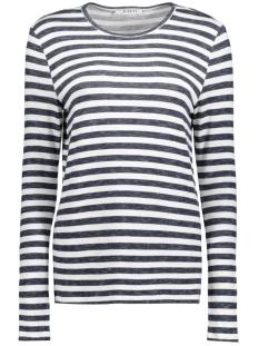 Pieces T-shirt PCMARIANNE BLOUSE STRIPE 17080570 Cloud Dancer/Navy Blazer