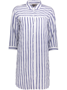 Vero Moda Tuniek VMSTRIPY 3/4 LONG SHIRT A 10171489 Snow White, Denim Blue